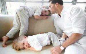 Ricky Martin with sons Valentino,Matteo
