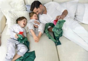 Ricky Martin with twins Valentino and Matteo