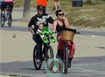 SInger Pink and husband Carey Hart out biking with daughter Willow