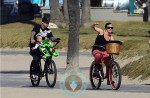 SInger Pink & husband Carey Hart out biking with daughter Willow