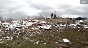 The decker house after tornado