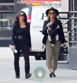 Tina and Beyonce Knowles with baby Blue Ivy in Tribeca