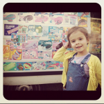 honor warren posing with the ice cream truck