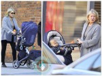 martha Stewart out for a stroll with her granddaughter Jude