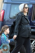 pregnant Maggie Gyllenhaal with daughter Ramona