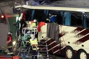 rescuers swiss bus crash