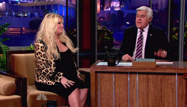 Very Pregnant Jessica Simpson On Jay Leno Growing Your Baby