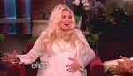 Very pregnant Jessica Simpson on The Ellen Degeneres Show