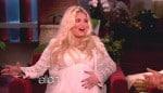 Very pregnant Jessica Simpson on The Ellen Degeneres Show