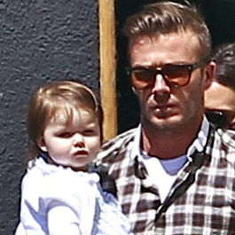 David and Harper Beckham Treat Victoria To A Birthday Lunch