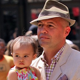 Billy Zane Strolls With Baby Eva At The Grove!