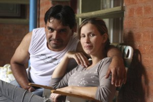 Analia Bouter and her husband Fabian Veron