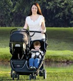 BRitax B-agile double stroller black - infant seat