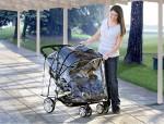 BRitax B-agile double stroller black rain cover