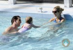 Eli Manning, Abby McGrew and Ava Manning in Miami