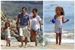 Halle Berry, Olivier Martinez, Nahla Aubry beach Easter