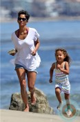 Halle Berry and Nahla Aubry beach Easter