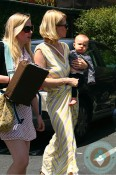 January Jones in LA with son Xander Jones