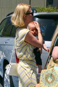 January Jones out in LA with son Xander Jones