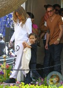 Jennifer Lopez, Casper Smart  with Max Anthony Easter Bunny
