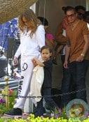 Jennifer Lopez, Casper Smart  with Max Anthony Easter Bunny