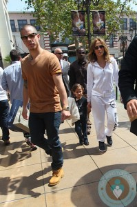 Jennifer Lopez and Casper Smart with Max Anthony Easter Bunny
