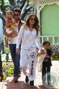 Jennifer Lopez with Max & Emme Anthony Easter Bunny