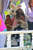 Jennifer Lopez with Max and Emme Anthony Easter Bunny