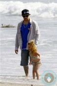 Joel and Harlow Madden at the beach in LA
