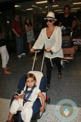 Kourtney Kardashian,Mason Disick at LAX