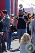 Liev Schreiber and Naomi Watts with son Sammy at the market in LA