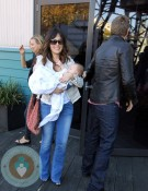 Lindsay Price, Curtis Stone and son Hudson in Sydney