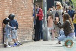 Naomi Watts takes a picture of Sasha in NYC
