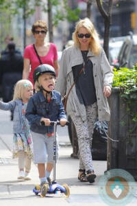 Naomi Watts with son Sammy in NYC