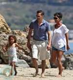 Olivier Martinez, Halle Berry and Nahla Aubrey beach Easter