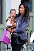 Padma Lakshmi and daughter Krishna in SoHo