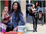 Padma Lakshmi and daughter Krishna out in SoHo