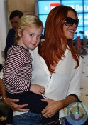 Poppy Montgomery and Jackson Kaufman in Sydney