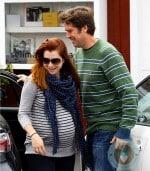 Pregnant Alyson Hannigan, Alexis Denisof Brentwood market