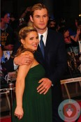Pregnant Elsa Pataky and Chris Hemsworth @ the premiere of Marvel Avengers