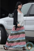 Pregnant Neve Campbell shopping in LA