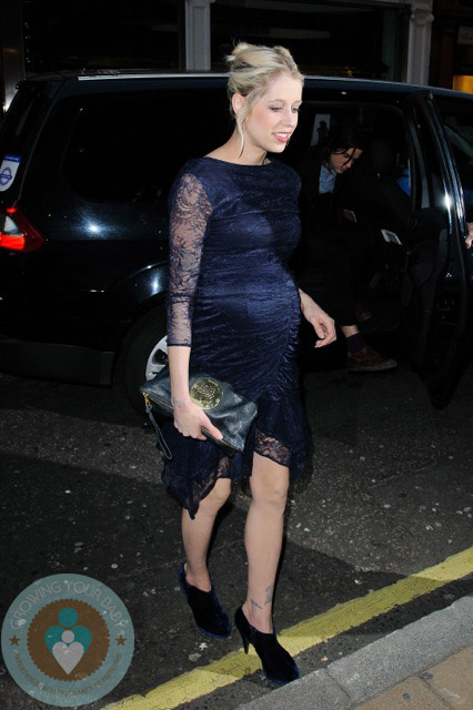 Pregnant Peach Geldof at Fashion Week 2011