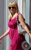 Pregnant Reese Witherspoon pink dress Easter