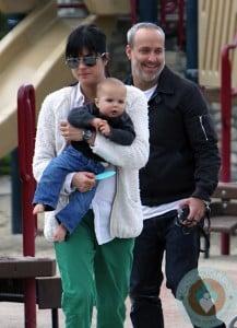 Selma Blair and Jason Bleick with son Arthur