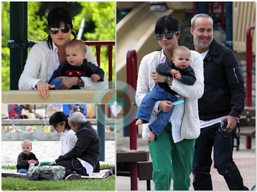 Selma Blair and Jason Bleick with son Arthur at Coldwater Canyon Park