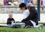 Selma Blair and Jason Bleick with son Arthur at the park