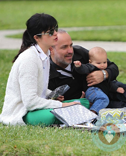 Selma Blair and Jason Bleick with son Saint Arthur