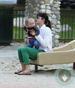 Selma Blair with son Arthur Bleick at the park