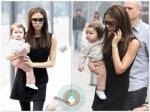 Victoria Beckham with daughter Harper in Beijing