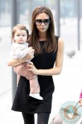Victoria and Harper Beckham in Beijing